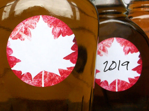 Red Leaf Maple Syrup Labels | CanningCrafts.com