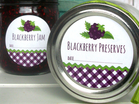 Blackberry Preserves Canning Labels | CanningCrafts.com