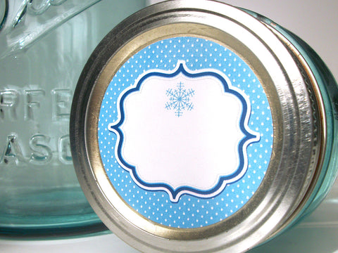 Blue Christmas Hanukkah Canning Labels | CanningCrafts.com