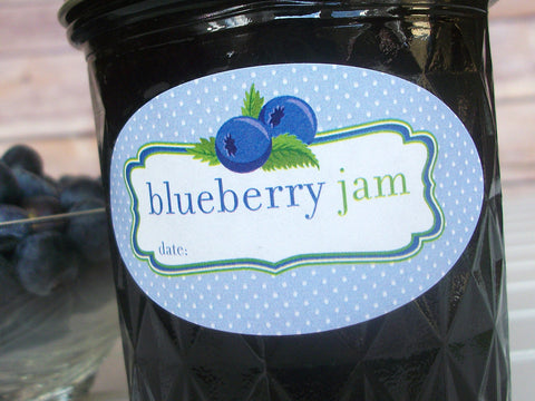 Blueberry Jam Canning Labels | CanningCrafts.com