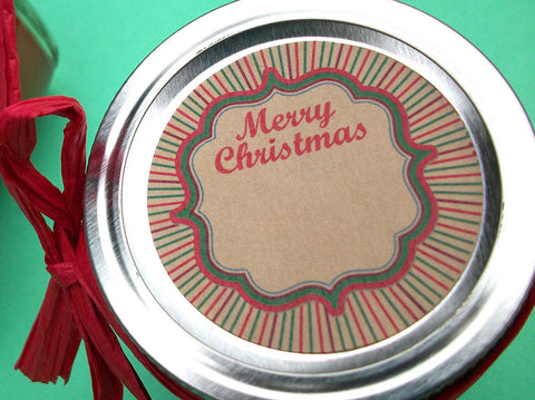 Kraft Merry Christmas Canning Labels | CanningCrafts.com
