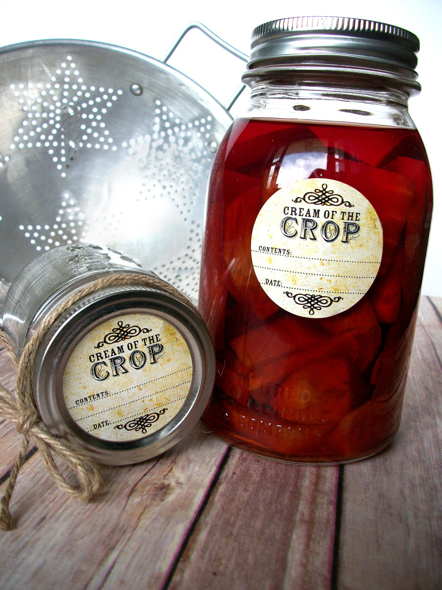 Vintage Cream of the Crop Canning Label | CanningCrafts.com