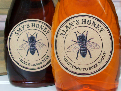 Custom Kraft Seal Honey Labels | CanningCrafts.com