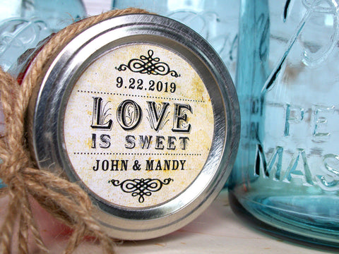 Love is Sweet Wedding Label | CanningCrafts.com