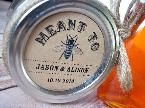 Kraft Meant to Bee Wedding Canning Labels | CanningCrafts.com