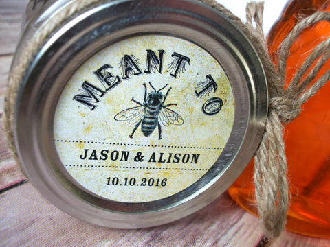 Vintage Meant to Bee Wedding Canning Labels | CanningCrafts.com