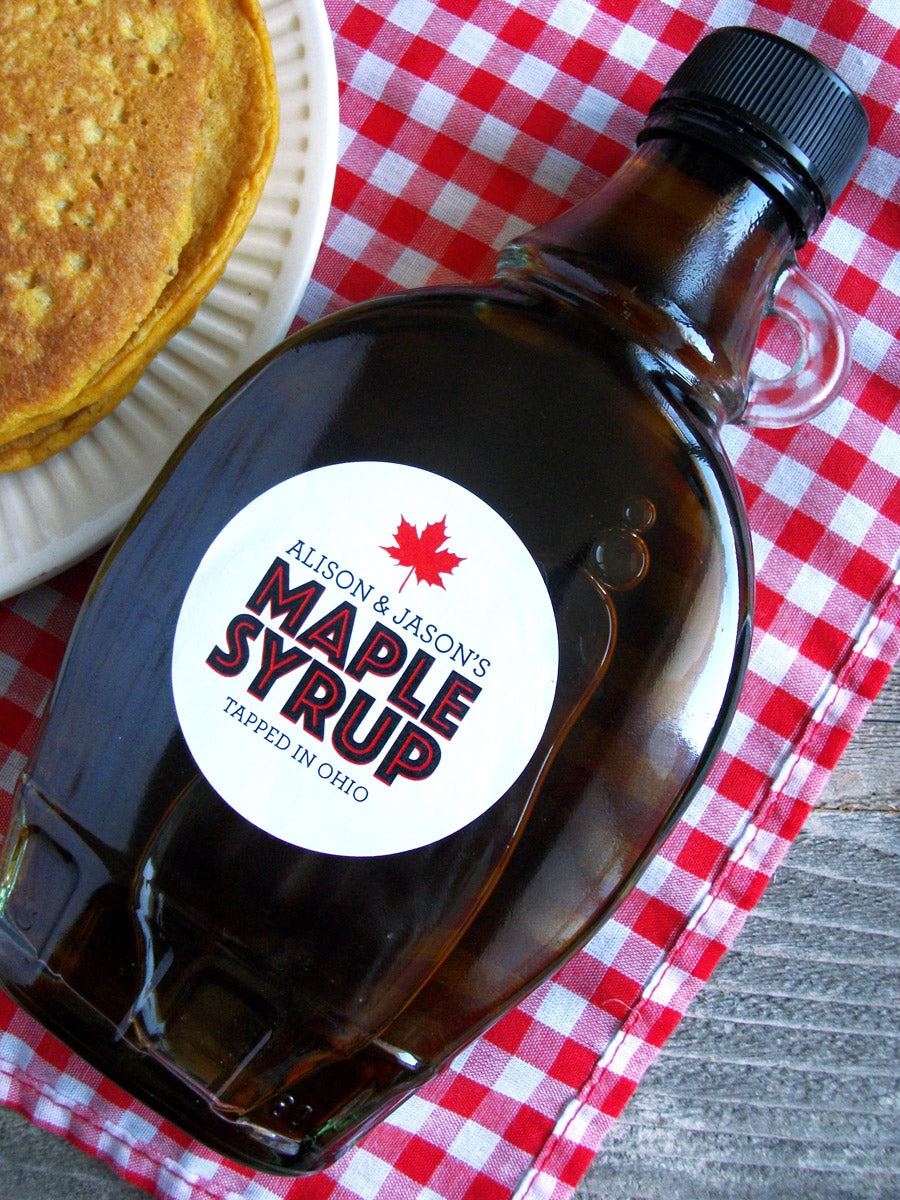 custom Modern Maple Syrup labels | CanningCrafts.com