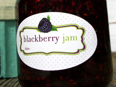 oval blackberry jam canning label | CanningCrafts.com