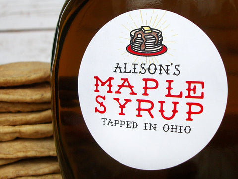 Custom Pancake Maple Syrup Labels | CanningCrafts.com
