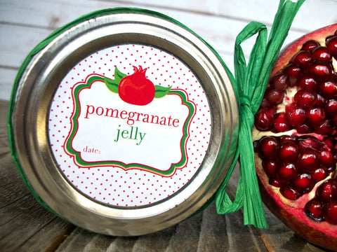 pomegranate jelly canning label | CanningCrafts.com