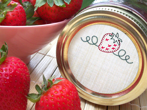 Strawberry Canning Labels | CanningCrafts.com
