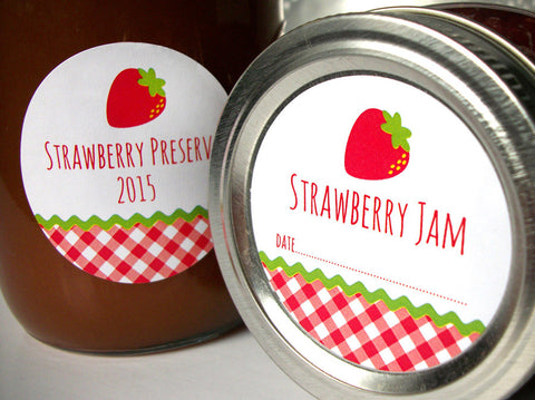 Strawberry Jam & Preserves Canning Labels | CanningCrafts.com