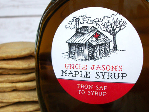 Custom Sugar Shack Maple Syrup Labels | CanningCrafts.com