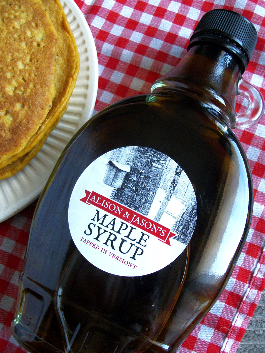 Tree Tapping custom Maple Syrup labels | CanningCrafts.com