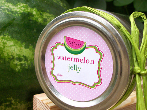 Watermelon Jelly Canning Labels | CanningCrafts.com