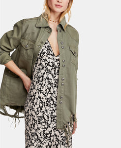 Freepeople denim shirt jacket