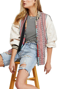 Freepeople quilted reversible bomber