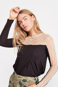 Freepeople top with lace detail