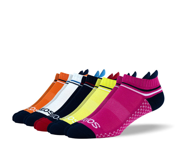 Mens Colored Ankle Athletic Sock Bundle
