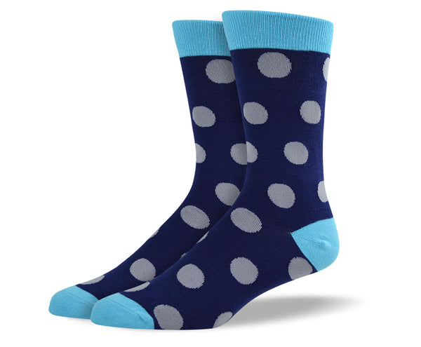 Men's Blue Big Dots Socks