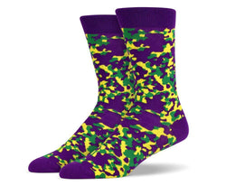 Mens Purple Camouflage Socks