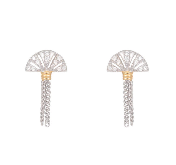 V Jewellery Luella Earrings Ft. Gold