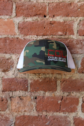 Cycles Of Life Snap Back Trucker Camo