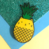 Pineapple Cat Enamel Pin