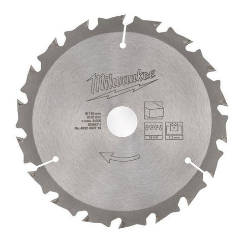 Milwaukee Circular Saw Blades - Milwaukee M12 140mm Cordless Circular Saw Blade - bcsupplies.com.au