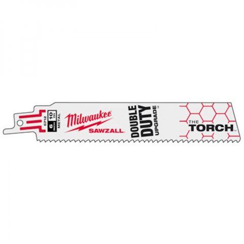 Milwaukee Sabre Saw Blades - Milwaukee The Torch Metal Demolition Blade 230mm 18TPI - 5 Pack - bcsupplies.com.au