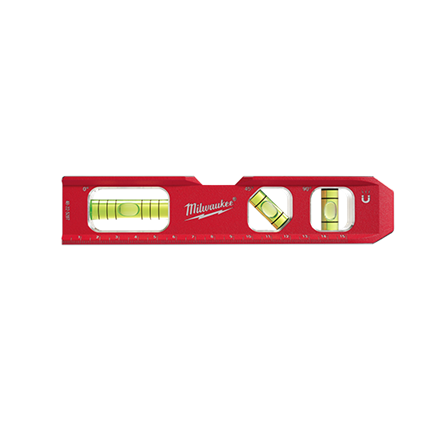 Milwaukee Level - Metric Compact Billet Torpedo Level - bcsupplies.com.au