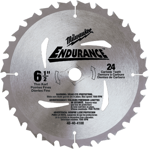 Milwaukee Circular Saw Blades - Milwaukee Circular Saw 6-1/2 (165mm) Blade - bcsupplies.com.au