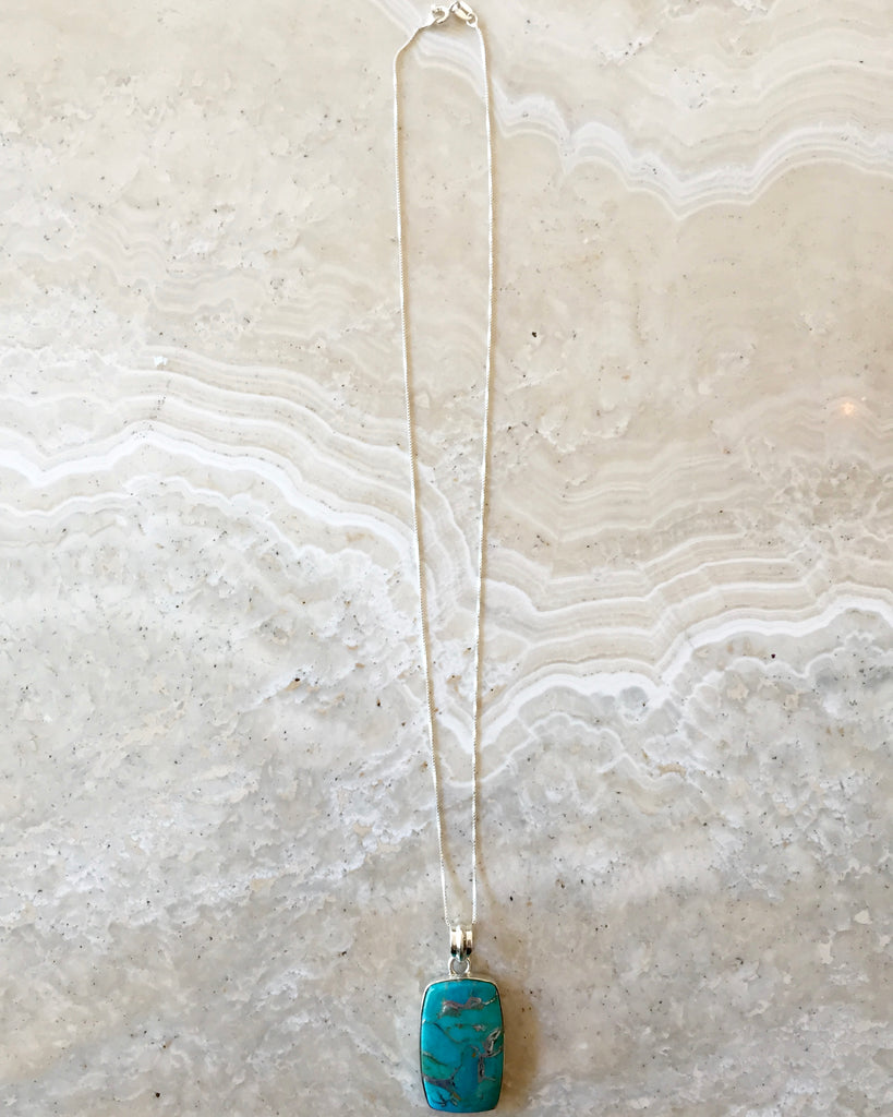 Turquoise and Silver Nurture Necklace