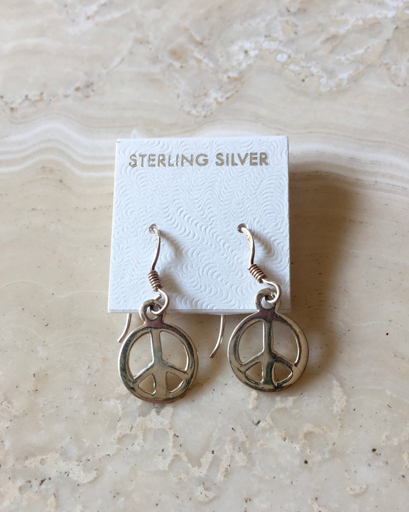 Silver Peace Earrings