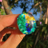 Dichroic glass ring no.1