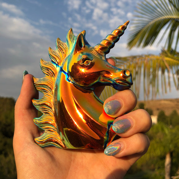 Sunset Obsidian Unicorn