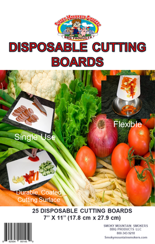 "Disposable Cutting Board - 7"" x 11"""