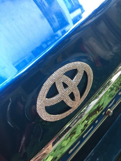 Bling TOYOTA LOGO Front or Rear Grille Emblem Decal Made w/ Rhinestone Crystals