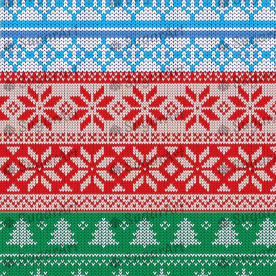 Knitted Blue, Red, Green Background - BSA065