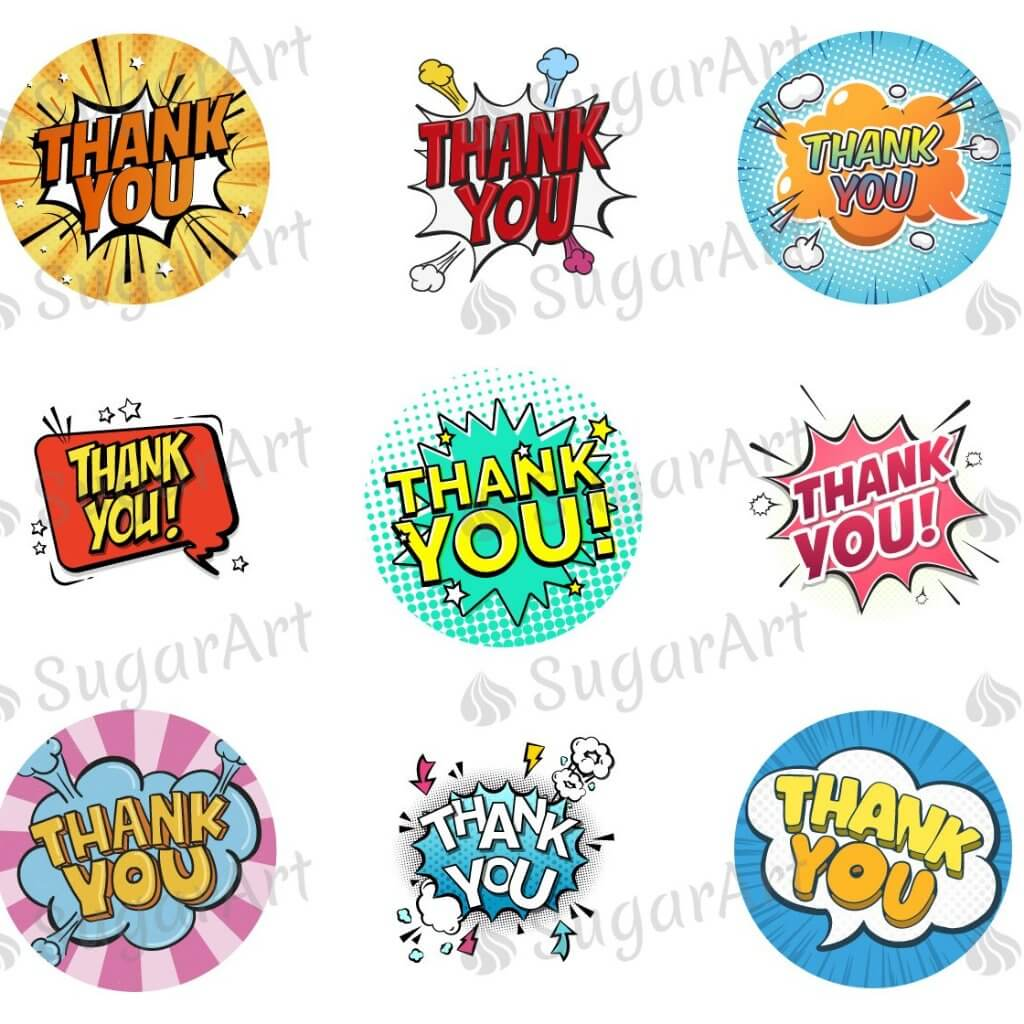 Thank You! Cartoon, Comic Style - ESA070