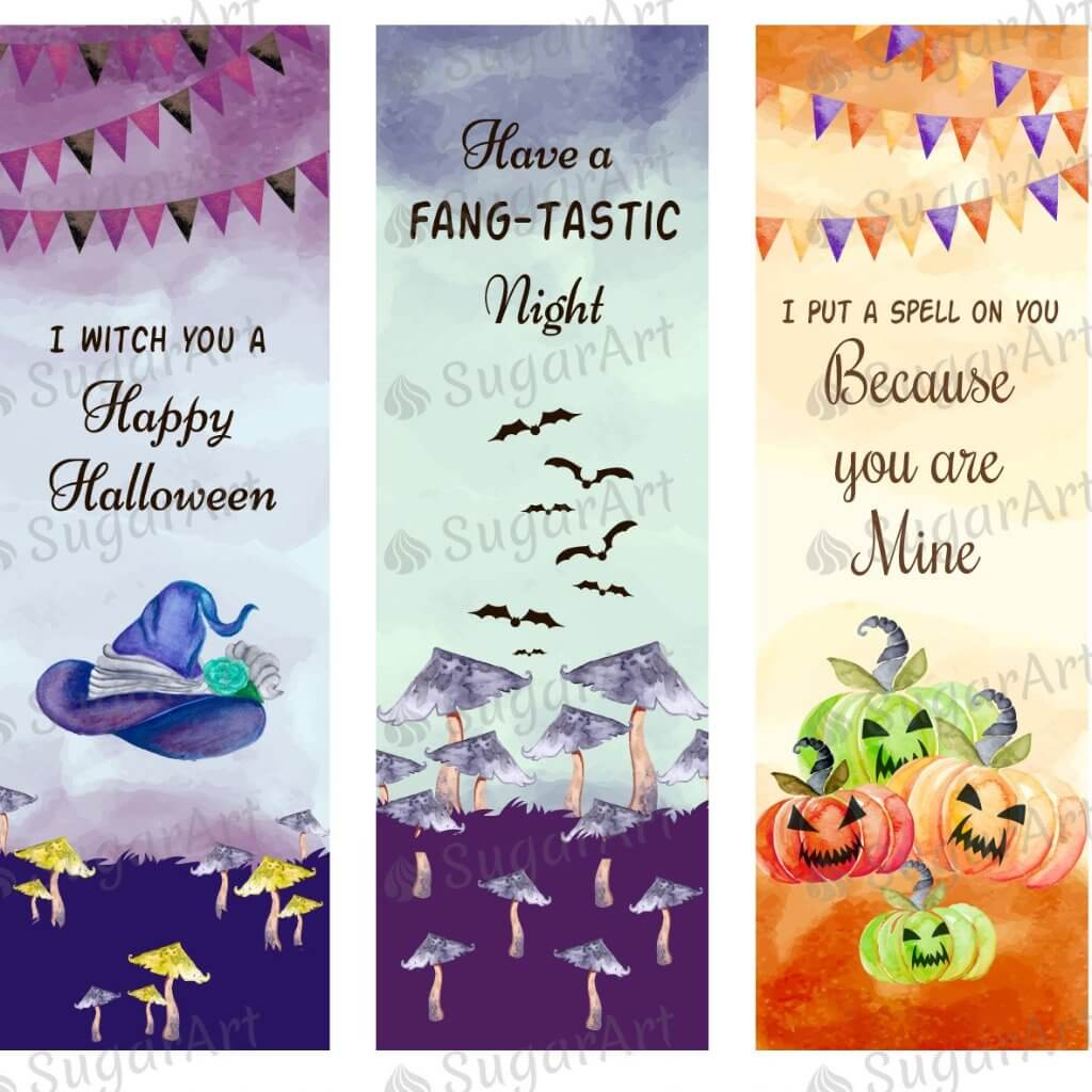 "Halloween Quotes, Rectangles - 1.2""x3.7"" - HSA069"