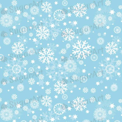 Winter, White snowflakes on blue background - SA30