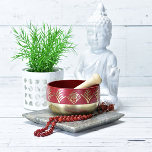 Red/Root Singing Bowl Gift Set Medium.
