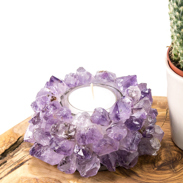 Amethyst Candle Holder (Lotus)