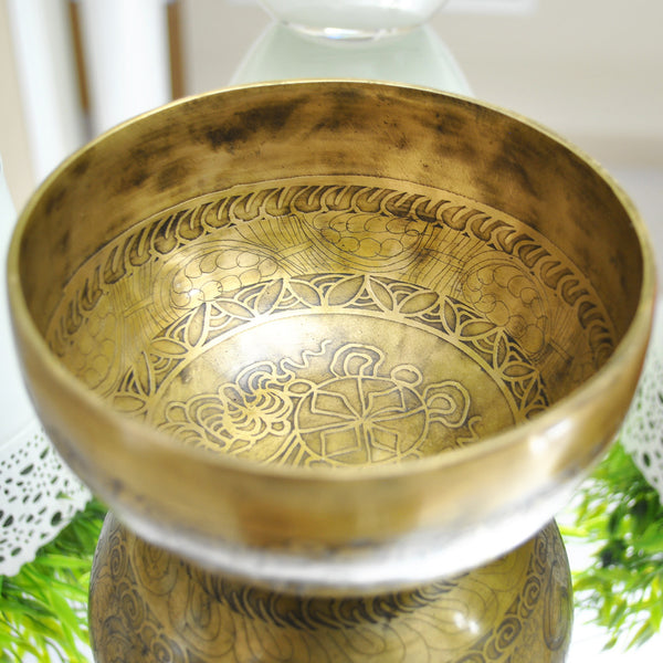 Ancient Script Singing Bowl - Etched