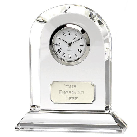 Arch Optical Crystal Clock - Ace Trophies