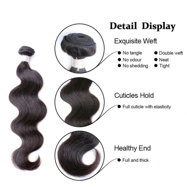 Luxury Body Wave - Natural Colour - London Virgin Hair