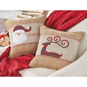 Tartan Christmas Pillow Wraps, Home, Mud Pie, - Sunny and Southern,
