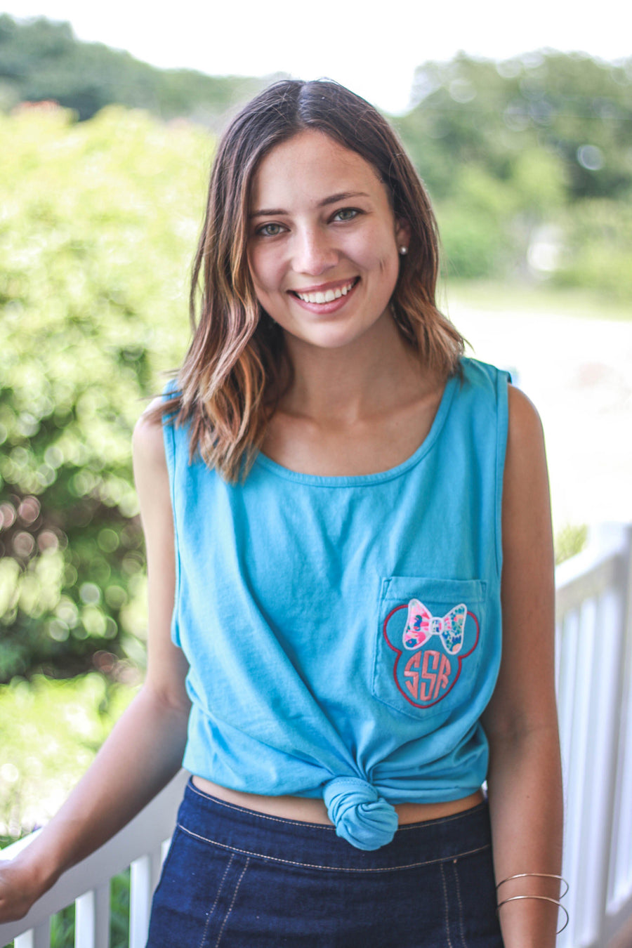 Lilly Minnie Comfort Colors Tank Top Pocket, ladies, Comfort Colors, - Sunny and Southern,