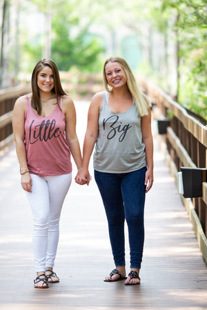 Big Little Handwriting Tank - Bella Slouchy, Ladies, Sunny and Southern, - Sunny and Southern,